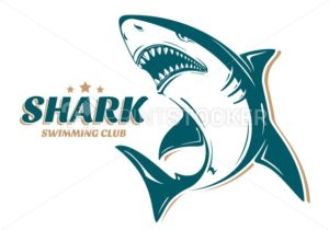 Angry shark logo for swimming club - PrintStocker.com