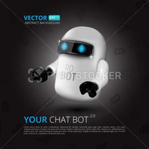 Chat Bot, The Concept Of Virtual Assistant For UI, Mobile Application Or Website Design - PrintStocker.com