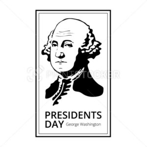 George Washington silhouette to Happy Presidents Day – National american holiday. Vector illustration isolated on white background - PrintStocker.com