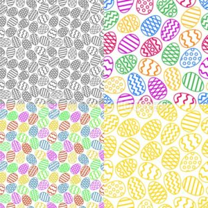 Vector set of colorful easter eggs seamless pattern - PrintStocker.com