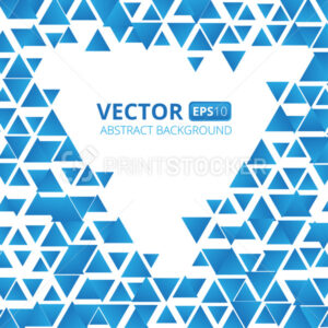 Abstract blue triangle vector background. Vector illustration - PrintStocker.com