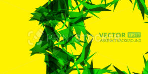 Abstract green triangle vector background on yellow. Vector illustration eps10 - PrintStocker.com