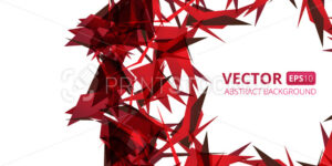 Abstract red triangle vector background on white. Vector illustration eps10 - PrintStocker.com