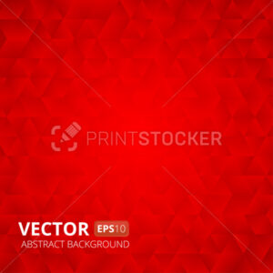 Abstract red triangle vector background. Vector illustration - PrintStocker.com