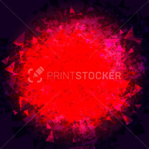 Abstract triangle red background - PrintStocker.com