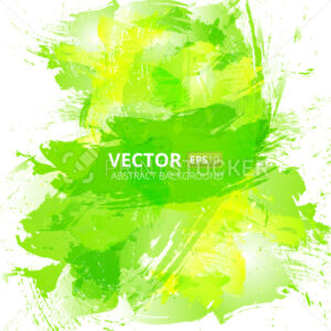 Abstract vector green watercolor background. - PrintStocker.com