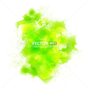 Abstract vector green watercolor background - PrintStocker.com