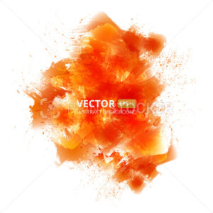 Abstract vector orange watercolor background - PrintStocker.com