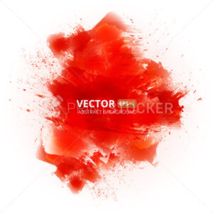 Abstract vector red watercolor background - PrintStocker.com