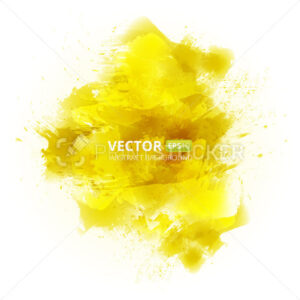 Abstract vector yellow watercolor background - PrintStocker.com