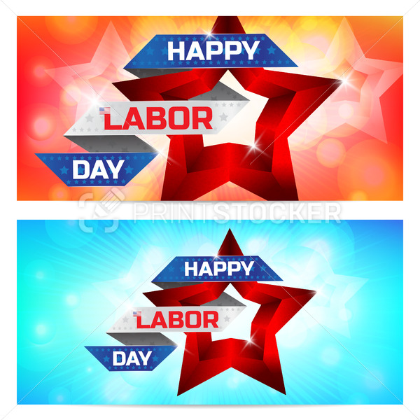 Happy Labor Day greeting card design. Use this vector illustration for design your website or publications. - PrintStocker.com