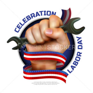 Happy Labor Day greeting card or banner design - PrintStocker.com