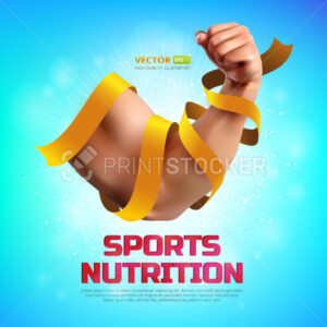 Sports nutrition vector illustration - PrintStocker.com