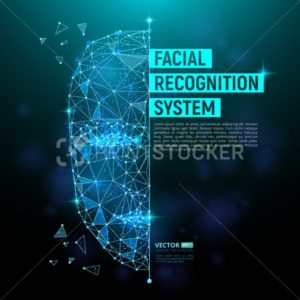 Biometric identification or Facial recognition system concept - PrintStocker.com