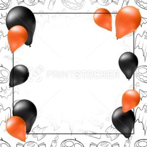 Happy Halloween greeting card, poster or banner template - PrintStocker.com
