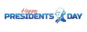 Vector label, logo or banner to Happy Presidents Day – National american holiday. Vector illustration isolated on white background - PrintStocker.com